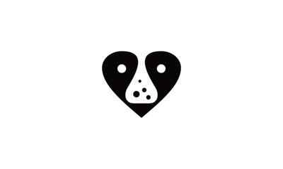 love dog and lab logo design