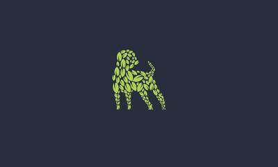 leaf dog logo design idea
