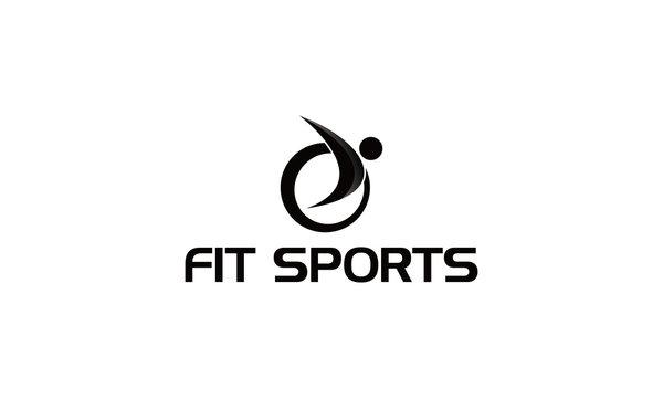 sport fit logo design idea