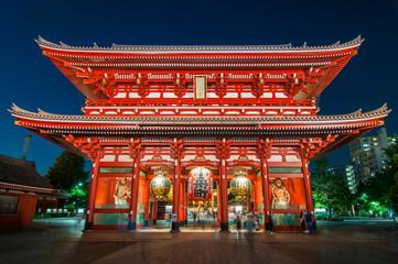 Photo sur Aluminium Tokyo Asakusa, Tokyo at Sensoji Temple's Hozomon Gate, Japan.