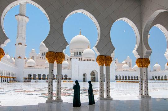 Sheikh Zayed Grand Mosque in Abu Dhabi, the capital city of United Arab Emirates.