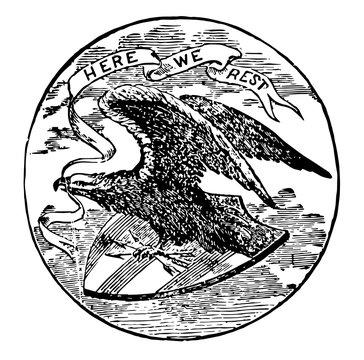 Alabama seal vintage illustration