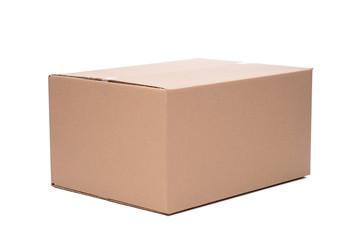 Obraz Pudełko opakowanie kartonowe na białym tle - fototapety do salonu