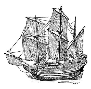 The Mayflower vintage illustration