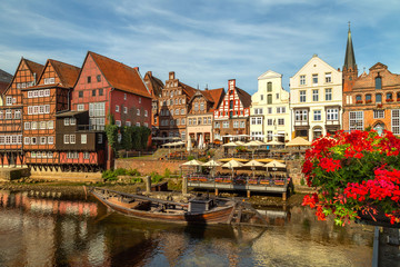 View of Lüneburg, Lower Saxony, Germany Fototapete