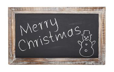 Tafel - Frohe Weihnachten - Kreide - Schultafel