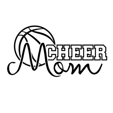 Cheer mom vector clip art. Sports digital files. Downloads file. Cheerleading signs. Basketball mom shirt design. Isolated transparent background.