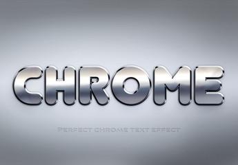 Chrome Text Effect Mockup