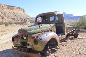 old truck in desert