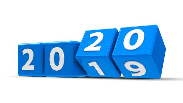 Blue cubes 2020