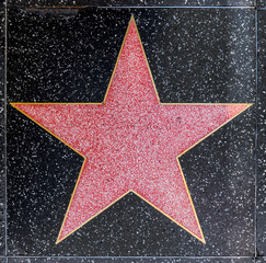 empty star on Hollywood Walk of Fame