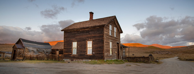 Old House at Sunset, Ghost Town of Bodie