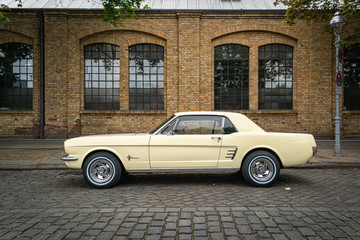 Pony car Ford Mustang (first generation) on May 01, 2019 in Berlin, Germany.