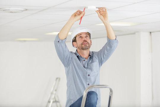 installing a spotlight in the room