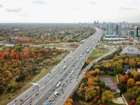 busy Highway in Autumn