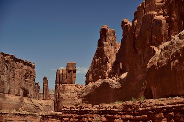 Garden Poster Brown arch in arches national park utah