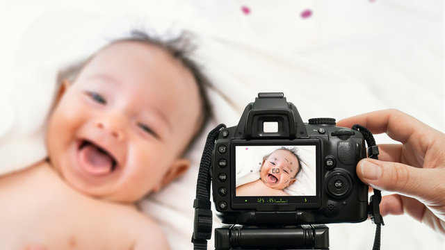 baby photography with dslr camera