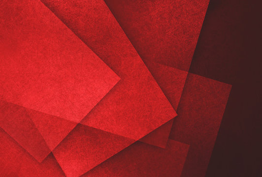 abstract red and black background, random textured rectangles squares and triangle shapes in geometric pattern background, red textured shapes on dark red background