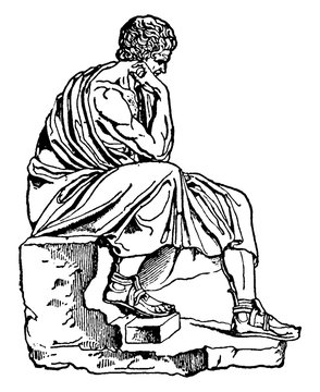 Aristotle, vintage illustration