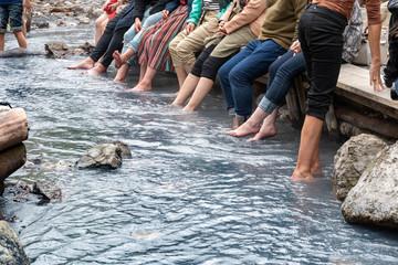 登別温泉 大湯沼川の天然足湯 / 北海道 登別温泉の観光イメージ