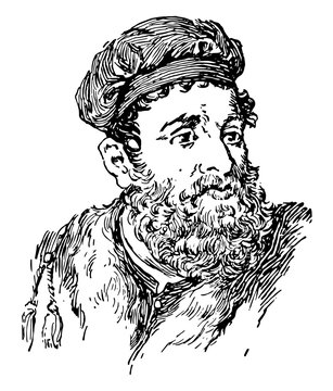 Marco Polo, vintage illustration