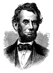 Abraham Lincoln, vintage illustration