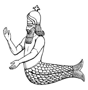 Dagon vintage illustration.