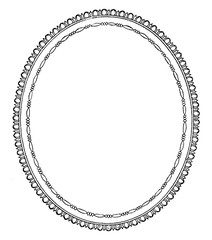 Oval Frame is a simple design, vintage engraving.