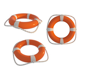 life buoy with white background