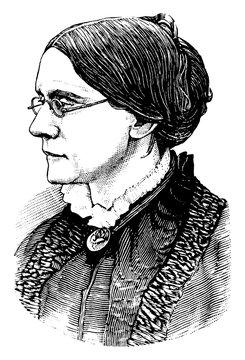 Susan B. Anthony, vintage illustration
