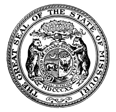 The Great Seal of the State of Missouri, vintage illustration