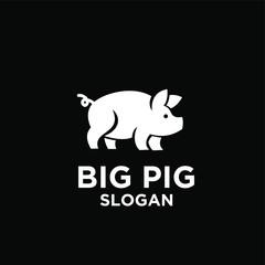cute pig logo icon design vector