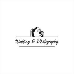 wedding photography, Photo studio logo design stock image