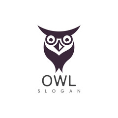 Owl bird illustration logo template vector