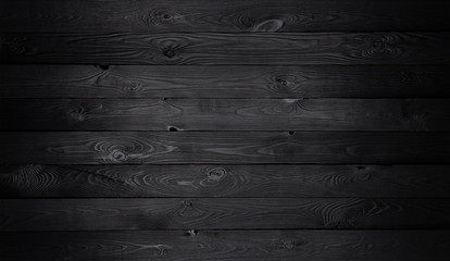 Fotorolgordijn Hout Black wooden background, old wooden planks texture