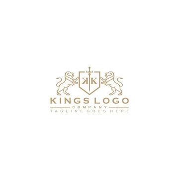 Golden royal lion king