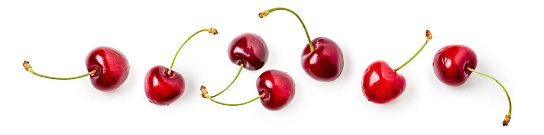 Cherry fruit composition banner