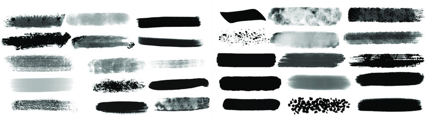 Photo sur Plexiglas Forme Black watercolor brush set for your design, vector.