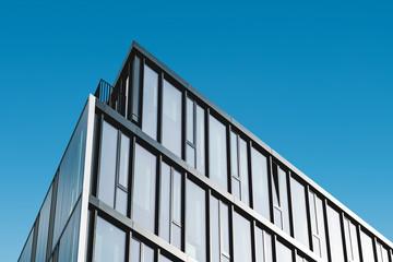 modern office building facade, commercial real estate exterior,