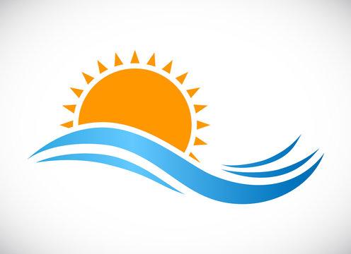wave sun logo icon