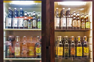 Set of Lithuanian beers in Kyiv, Ukraine.