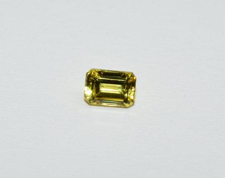 Yellow Sapphire facet cut gemstone