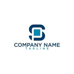SP or PS Letter vector Logo Template Illustration Design