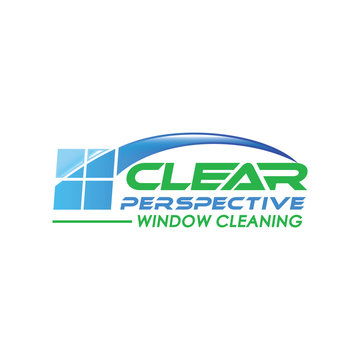glass service logo design illustration
