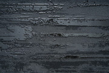 Black concrete rough and glossy marble abstract nature background.