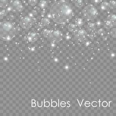 Bubble vector. soap bubble on a transparent background. Vector design.