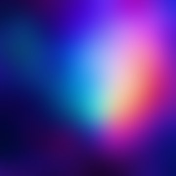Exclusive pink, blue, yellow, purple gradient illustration. Disco party spectral blurred texture. Aurora boreal night empty background. Dark iridescent abstraction.