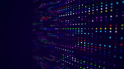 Abstract digital background. Big data code matrix. 3d rendering.