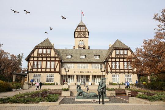 Winnipeg, Manitoba / Canada - October 20, 2019: The Pavilion WAG at Assiniboine Park