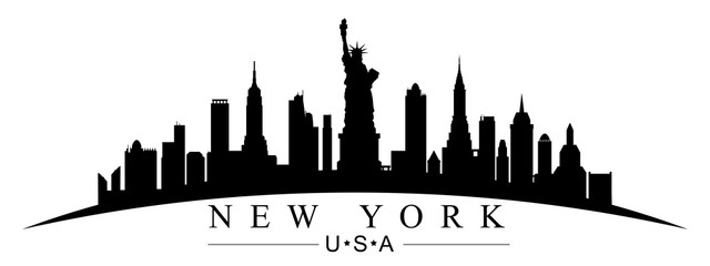 New York city silhouette - for stock Fotobehang